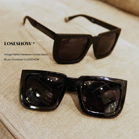 Sunglasses star style male female fashion sunglasses oversized box vintage sunglasses