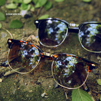 Classic fashion sunglasses male sunglasses Women vintage frame sunglasses 2013
