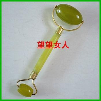 Natural jade beauty device flower jade face-lift massage double slider beauty device