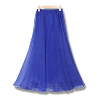 5000w 8 meters ultra long skirt dress gold chiffon skirt bust skirt chiffon skirt ubiquitous1