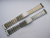 Watch accessories stainless steel watchband solid steel band silver gold curviplanar 19mm