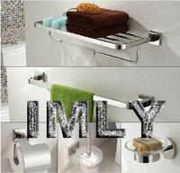 SUS304 Bathroom accessories set mirror polishing finish towel rack. towel bar,paple holder,toilet brush holder,soap dish5pcs/set