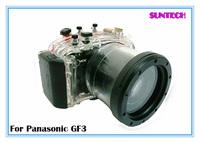 Free shipping 40M underwater camera bag diving shell for Panasonic GF3(14-42mm lens) Waterproof camera case