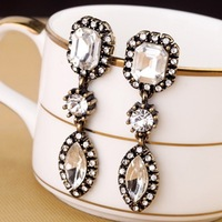 New Fashion Vintage Crystal Drop Earrings For Women Factory Wholesale