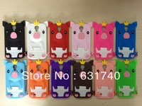 fashionable crown of pig silicone case of samsung S4 i9500