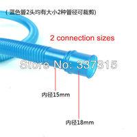 2 pcs a Lot Plastic /  PVC  Aquarium Hose Tube 100cm Ribbed For Water Pump  Free Shipping