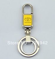 Free shipping metallic Toyota car keychain car logo key ring