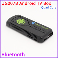 Promotion!! - UG007B Quad Core Android TV Box RK3188 2GB DDR3+8GB Build in Bluetooth WiFi 1080P Better than MK802/MK809III/QC802