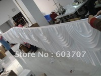 "10ft*29"" Table Skirting With Velcro\Ice Silk fabric Besr Quality Free Shipping"