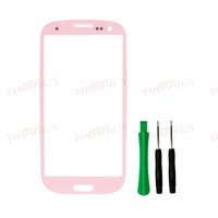 Pink Outer Front Screen Glass Lens for SamSung Galaxy SIII S 3 i9300 i747 T999 Colors