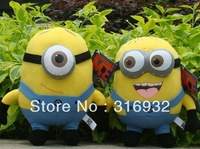 J1 New, Despicable Me Minion Plush Toy Stewart & Jorge 23cm Cute Stuffed toy ,2pcs/lot