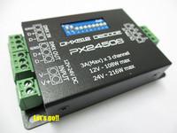 Wholesale 50pcs PX24506 RGB LED Strip Decoder Driver 9A DMX 512 Amplifier 12-24V DC