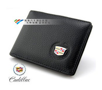 Genuine Leather License Bag For cadillac xts srx cts ats sls wallet purse notecase Car Logo Gift Free HK post