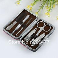 20 sets/Lot fingernail kits nail clipper set finger plier nail art tools 6 pieces/set manicure set pedicure tools lovely cartoon