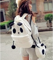 Women's handbag backpack bag student school bag canvas backpack plush bag