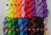 Wholesale Dia 1mm*280M/300yds/Pack 5 Packs/Lot Chinese Knot Beading Shamballa 100% Nylon Cord Rope for Bracelet