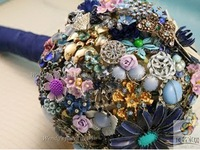 High quality flowers wedding bride holding flowers luxury vintage bead holding flowers