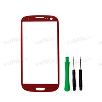Red/ Outer Front Screen Glass Lens for SamSung Galaxy SIII S 3 i9300 i747 T999 Colors