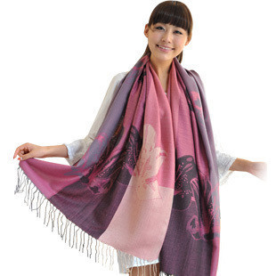 Maya ethnic patterns oversized cashmere scarves Winter shawls 0.21kg large air-conditioned wraps