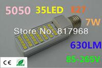 LED Bulb 220v 7W 5050 SMD 35 LED E27 Corn Light Lamp lights for home Cool White/Warm White