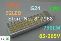 LED Bulb 220v 11W 5050 SMD 52 LED G24 Corn Light Lamp lights  Cool White/Warm White