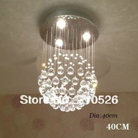 Free Shipping!modern crystal chandelier(40cm W*60cm H,can customize) best K9 crystal for home/hotel/restaurant/stairs droplight