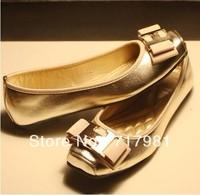 2013 sale REVA BALLET LEATHER Reva Ballerina Flat with square head fashion metal decoration flat shoes women shoes(1pairs)