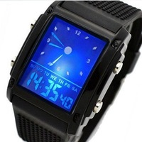 Watch fashion multifunctional electronic watch waterproof led watch mens watch male