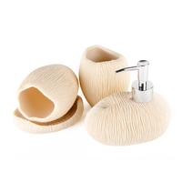 Nordic style ocean theme DecoTalk bathroom set  4pcs set gift set sandstone bathroom supplies kits white and beige colors