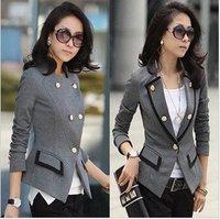 NEW 2014 Women Long Sleeve Casual Blazer Coat Jackets Outerwear
