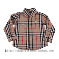 2013 new Children's cotton plaid long-sleeved shirt British style children's coat Jacket Boys wear Brand children's clothing