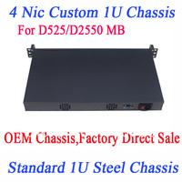 4 NIC customized 1U chassis D525 ATOM 4 NET card chassis 1U chassis 4 Custom 1000M lan 4 network chassis for ROS Wayos etc