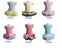 6pc/lot free shipping Chevron cotton petti dress for kids new arrivals girls boutique dress wild child ruffle dress