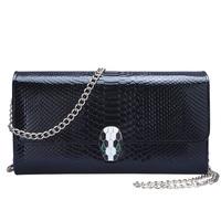 2013 women's small bag fashion crocodile pattern chain fashion day clutch evening bag messenger bag