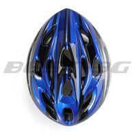 2014 hot Blue Black Mountain Road Race Bicycle Bike Cycling Safety Unisex Helmet +Visor L