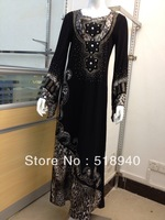 2013 islamic dress and  muslim women long dress  islamic abaya for women muslim abaya free shipping