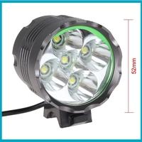 Securitylng 6000 Lumen High Power 5 x CREE XML T6 LED Front Bicycle Light Bike Lamp + Headlight Headlamp, Free Shipping