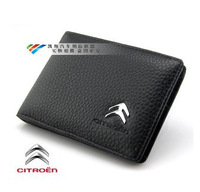 Genuine Leather License Bag For CITROEN c5 c4l C-Quatre ds5 c2 Elysee wallet purse notecase Car Logo Gift Free HK post