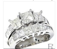 100% new 14K   3.50CT Princess Cut Engagement Wedding Ring