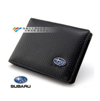 Genuine Leather License Bag For Subaru Forester xv brz sti outback legacy wallet purse notecase Car Logo Gift Free HK post