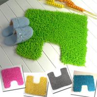 D009 100% cotton chenille slip-resistant absorbent mats bath mat u pad toilet mat