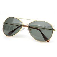 2014 fashion Black Aviator Pilot UV400 Sunglasses Shades Green Lens