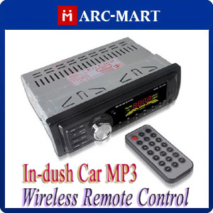 Digital In-dush Car MP3 Player with Wireless Remote Control Support USB/SD/MMC#MP019