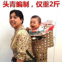 asian Handmade bamboo Baby Carrier baby sling wrap cool backpacks for kids back bag kids holder Eco-Friendly and health