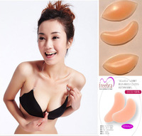 2pcs sexy lady's Silicone Breast Enhancers push up Bra Insert Pad, fashion Invisible Bra Free Shipping