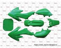 NEW CRF50 STYLE GREEN PLASTIC KIT 7PC THUMPSTAR