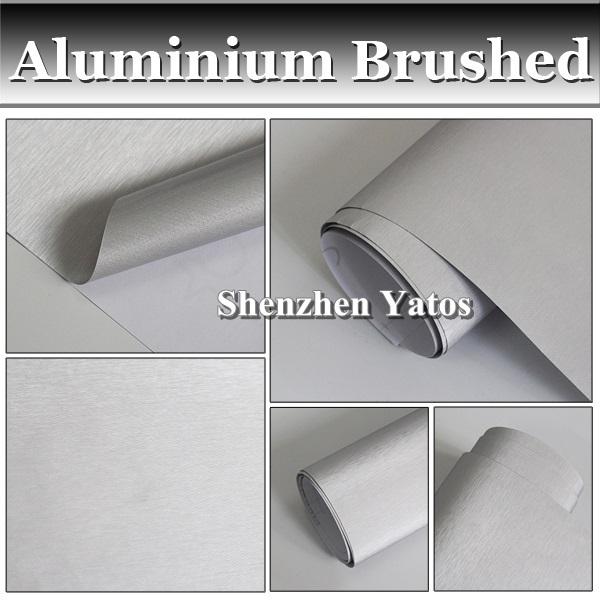 Silver Brushed Aluminium Film 3M Vinyl Car Wrap Bubble Free(China (Mainland))