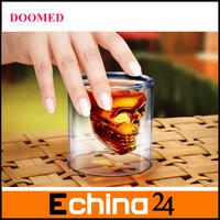 Doomed Crystal Skull Shot Glass/Crystal Skull Head Vodka Shot Wine Glass Novelty Cup 5pcs/lot Free Shipping