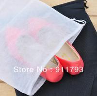 Free shipping 15pcs big 29X36cm  Travel Storage Shoe Dust-proof  Tote Dust Bag Case  black/white