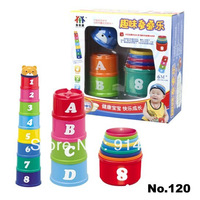 Free shipping educational toys for baby interactive stacker toys 1pcs early development for fun